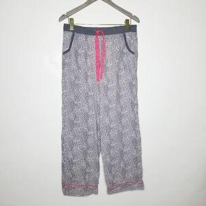 Victorias Secret Leopard Cotton Pant Pink Grey